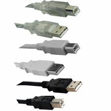 1Ft-15Ft USB 2.0 A to B Cable High Speed Printer Scanner HDD Modem Camera PC MAC