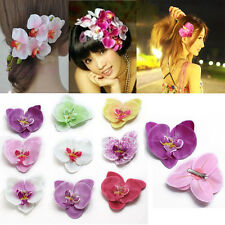 5Pcs Women Flower Orchid Hair Clip Hairpin Wedding Bridal Party Girl Fashion