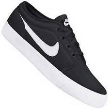 Men's NIKE TOKI LO Black/White Canvas Skate/Athletic Casual Sneakers Shoes NEW