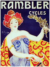739.Rambler Cycles Ad Art Decoration POSTER Ad.Graphics to decorate home office.