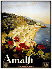 413.Amalfi Italian Travel Art Decoration POSTER.Graphics to decorate home office
