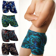 Fashion Men Cool Swim Trunks Boxer Brief Bikini Board Shorts Swimwear Swimsuit