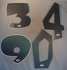 GT Dyno Number Plate Numbers Black for BMX Racing Old Mid School Bike