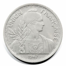 French Indo-China Bust with Laurel 1 Piastre 1947  Reeded BU KM32.2