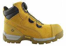 WOLVERINE TARMAC BOA 6 INCH SB MENS STEELTOE/DISC SAFETY BOOTS/COMFORTABLE