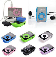 New Mini Mirror Clip USB Digital Mp3 Music Player Support 8GB Micro SD TF Card