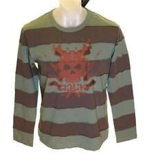 Bnwt Men's French Connection Long Sleeved Striped Skull T Shirt Top RRP£40 New