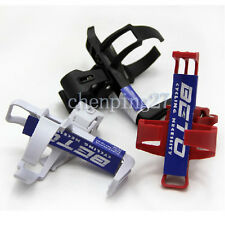 Cycling Bike Bicycle Plastic Water Bottle Holder Cages with Quick Release Clamp