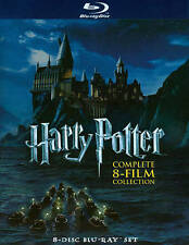 Harry Potter Complete 8-Film Collection Blu-ray 8-Disc Set 2011 Daniel Voldemort