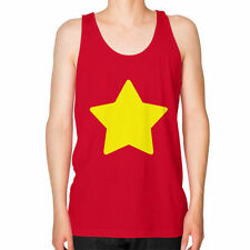 Retro Unisex CARTOON STAR Men's / Unisex American Apparel Fine Jersey TANK TOP