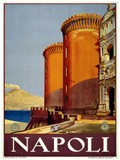 409.Napoli Italian Travel Art Decoration POSTER.Graphics to decorate home office