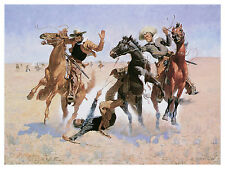 1361 Cowboy battle wall Art Decoration POSTER.Graphics to decorate home office