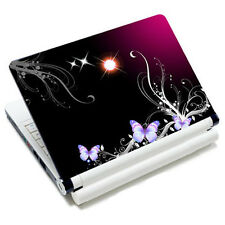 "10.6""-15.6"" Purple Butterflies Notebook Laptop Vinyl Skin Sticker Cover Decal"