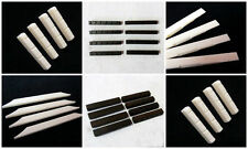 "Classical Guitar Bone/Ebony Blank/Slotted Nut 2.0""X0.2""X0.3 Saddle 3.14x0.11x0.3"
