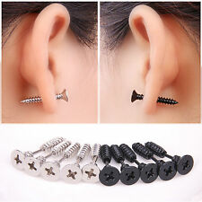fashion Unisex Stainless Steel Whole Screw Ear Studs Punk Ear Studs Earrings 1pc
