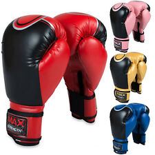 Boxing Gloves MMA Sparring Punch Bag Muay Thai Training Fight Pads Rex Leather