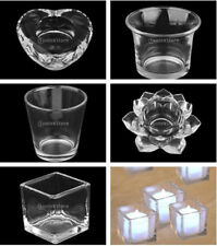Clear Glass Votive Candle LED Holder Candlestick Wedding Xmas Party Home Decor