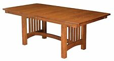 Amish Mission Bellingham Trestle Dining Table Solid Wood Oak Cherry Maple