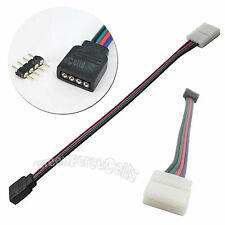 LOT 4 Pin Male/Female Connector Wire Cable For RGB 3528 5050 LED Strip Light