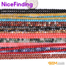 """3mm Round Spacer Small Tiny Seed Beads Jewelry Making Design  Beads Gemstone 15"""""""
