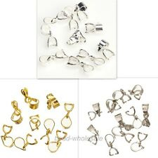 15Pcs Silver/Gold Plated18KGP Pinch Clip Connectors Bails For Jewelry making12mm