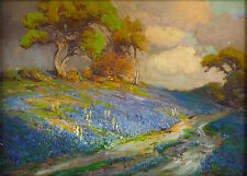 Late Afternoon in the Bluebonnets - Robert Julian Onderdonk Giclee Canvas Print