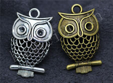 5/20/100pcs Antique Silver Lovely Owl Jewelry Finding Charms Pendant DIY 32x19mm