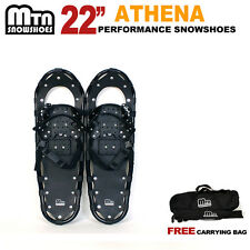 "New MTN Man Woman Kid Teen 22"" Snowshoes up to 155 lbs Free Bag"