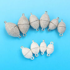 10pcs, 8,10,12,14mm Silver Plated Oval Strong Magnetic Clasps