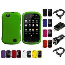Color Hard Snap-On Rubberized Skin Case for Sprint Kyocera Milano 2X Chargers