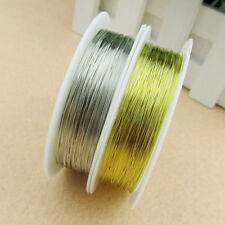 Hot 0.3/0.4/0.8mm Silver/Golden Plated Copper Wire Beads Jewelry Making Craft