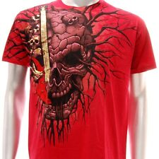 a52r Artful T-shirt Sz M Tattoo Skull Ghost Monster Devil Graffiti Street Funky