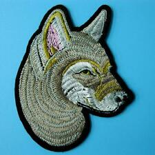 1 Wolf Wild Animal Patch Iron on Sew Motif Embroidery Applique Badge Biker Punk