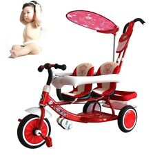 Baby Infant Umbrella Stroller Kids Double Seats Tricycle Ride-On Pram Buggy NEW