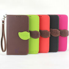Leaf For Samsung Galaxy Note 3 III N9000 PU Leather Flip Stand Wallet Case Cover