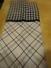NEW White & Black PLAID~Houndstooth Jaclyn Smith  ~GEO shower curtain dramatic