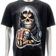 sc125 Sz M L XXL XXXL Survivor Chang T-shirt Tattoo Skull Glow in Dark Ghost Men