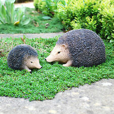 Life-like Resin Hedgehog Garden Ornaments - Small or Large Available