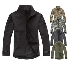 New Mens Soft Shell Casual Outdoor Sport Tactical Jacket Hunting Windproof Coat
