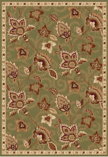 Area Rugs Green Modern Area Rug Transitional Oriental Bordered Floral Carpet