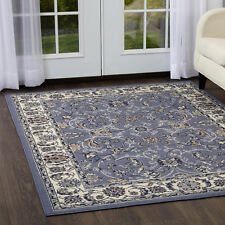 Rugs Area Rugs Carpet Flooring Persian Area Rug Blue Oriental Traditional Carpet
