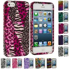 Zebra Colorful Design Hard Snap-On Rubberized Case Cover for iPhone 5 5G 5th