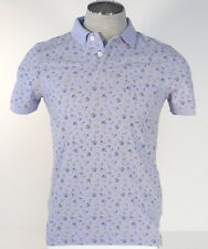 Tommy Hilfiger Slim Fit Purple floral Short Sleeve Cotton Polo Shirt Mens NWT
