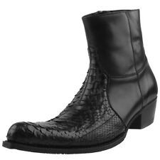 NEW SENDRA ANKLE BOOTS MEN BOOTS BOOTS Python leather Leather Black