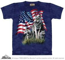 WOLF FLAG ADULT T-SHIRT THE MOUNTAIN
