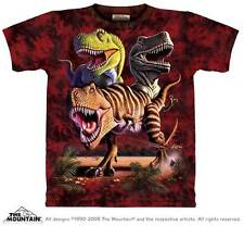 "DINOSAUR ""REX COLLAGE"" ADULT T-SHIRT THE MOUNTAIN"