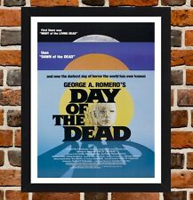 Framed Day Of The Dead Horror Movie Poster A4 / A3 Size In Black / White Frame
