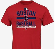 NEW Womens MAJESTIC Boston RED SOX Baseball Authentic Collection Red T-Shirt