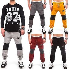 Men's Biker Sport Pants Jogging Zipper Fitness Tracksuit Bottoms 3012 New