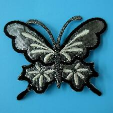 Shiny Butterfly Iron on Patch Embroidered Applique Sew Biker Cute Lace Rock Punk